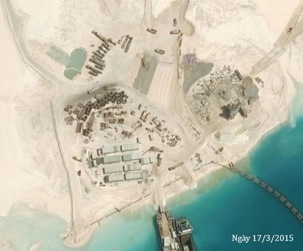 Thực trạng 7 bãi đá Trung Quốc cải tạo ở Trường Sa qua ảnh vệ tinh - ảnh 13