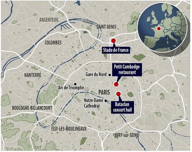 Toàn cảnh vụ khủng bố đẫm máu kinh hoàng tại Paris - ảnh 1