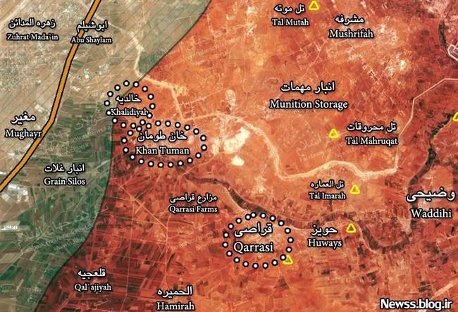 Tấn công với T-90 ở Aleppo, thế phong tỏa biên giới Thổ Nhĩ Kỳ của quân đội Syria rõ dần - ảnh 3