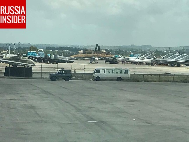 Cận cảnh căn cứ không quân Nga tại Syria (video) - ảnh 1