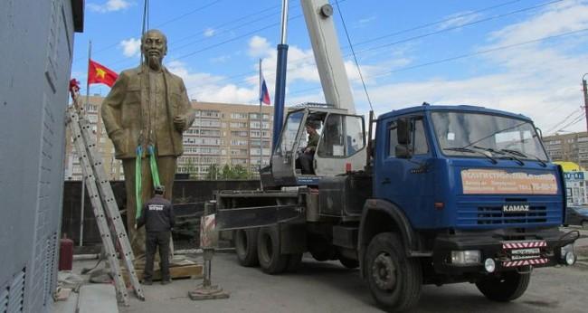 Công trình dựng tượng đài Hồ Chí Minh tại thành phố Ulyanovsk