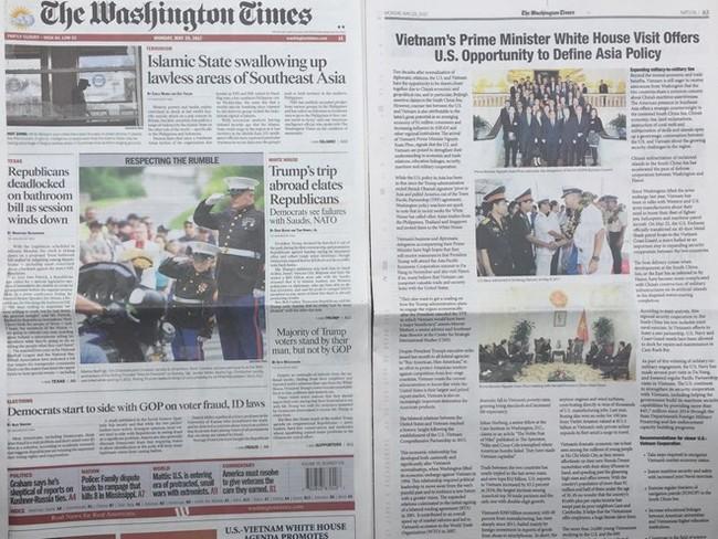 Thông điệp của Thủ tướng Nguyễn Xuân Phúc trên The Washington Times - ảnh 1